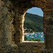 Mediterranean view from the medieval Scaliger Castle by B℮n