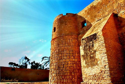 old travel history architecture tunisia djerba afryka elisabethgaj fortborjelkbir