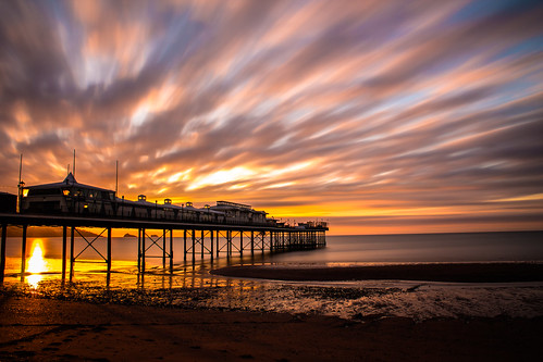 uk longexposure morning sunset sea summer orange sun holiday beach nature water clouds landscape landscapes pier movement day cloudy devon seaview paignton ndfilter cloudmovement 10stop nd30 paigntonpier haida10stop
