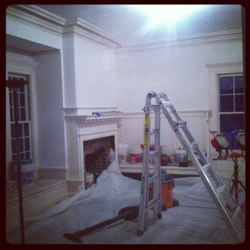Living Room under the care of our Plaster Master