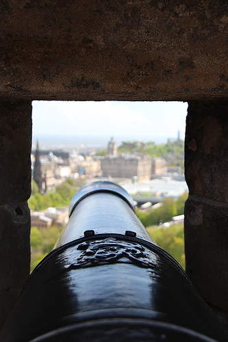 view from a cannon