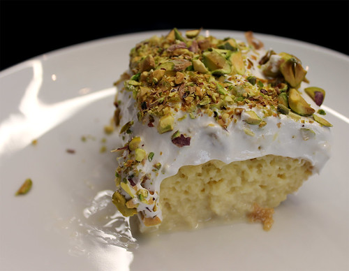 Pistachio-Cardamom Tres Leches Cake