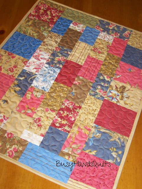 Scrappy Meadow Table Runner Quilt