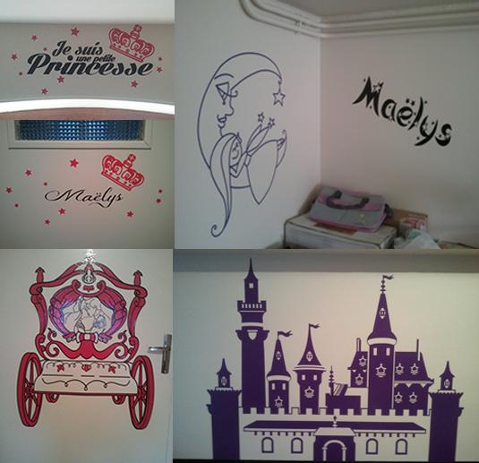 Création et fabrication de stickers personnalisés pour la décoration de la chambre de Maëlys