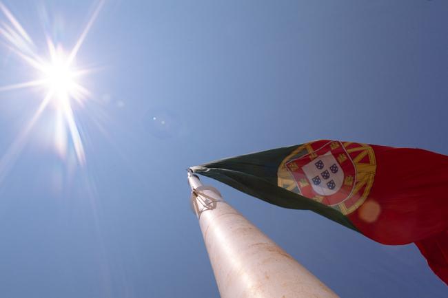 Portugal flag sun