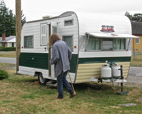 Our trailer at home!
