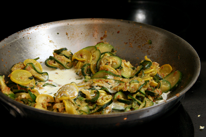 pasta with zucchini cream sauce 5