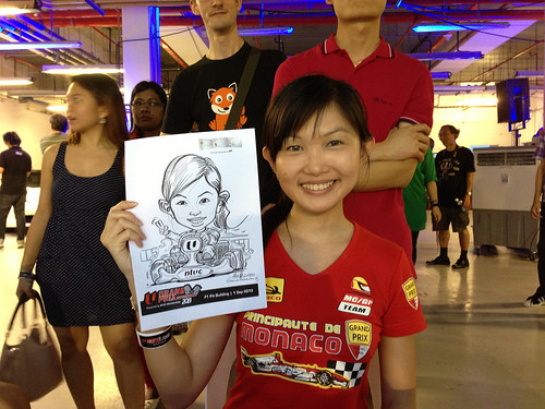 caricature live sketching for NTUC U Grand Prix Experience 2013 - 28