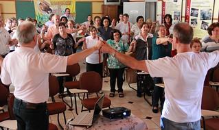 Cerca de 50 pessoas participaram do momento, entre sócios, representantes das equipes paroquiais e secretariado executivo.