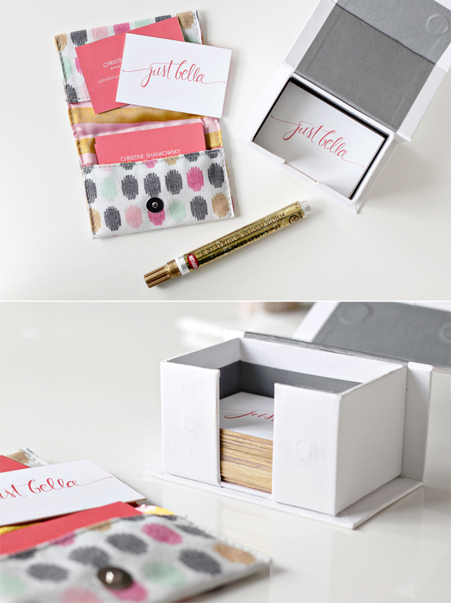 Blog Business Cards (gold leaf pen edging)