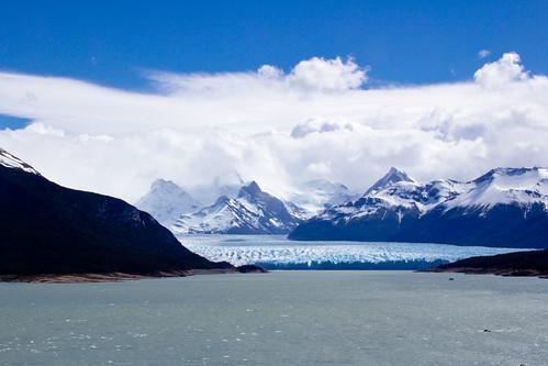 Primera vista de El Perito Moreno desde el mirador