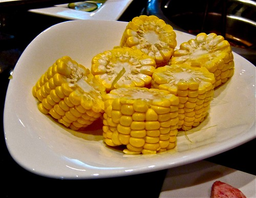 boiled corn is delicious