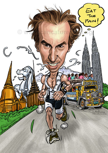 digital runner caricature for Apple (watermark)
