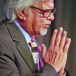 gandhi-a -- Arun Gandhi, the grandson of Mahatma Gandhi, spoke on campus.