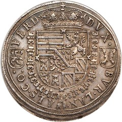 Lot #20142. AUSTRIA. Holy Roman Empire. 2 Taler, ND (1564-95) reverse