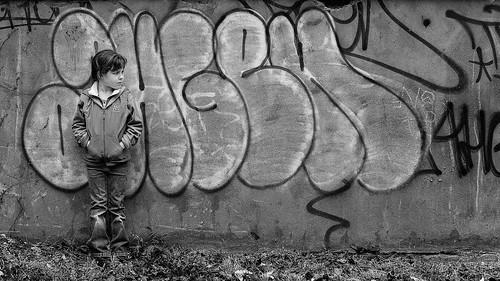 blackandwhite girl wall graffiti asheville