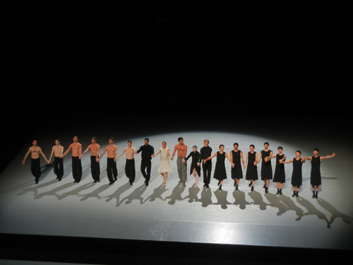 DSCN7013 _ Sehnsucht & Schmetterling, Curtain, Zellerbach Hall, Berkeley