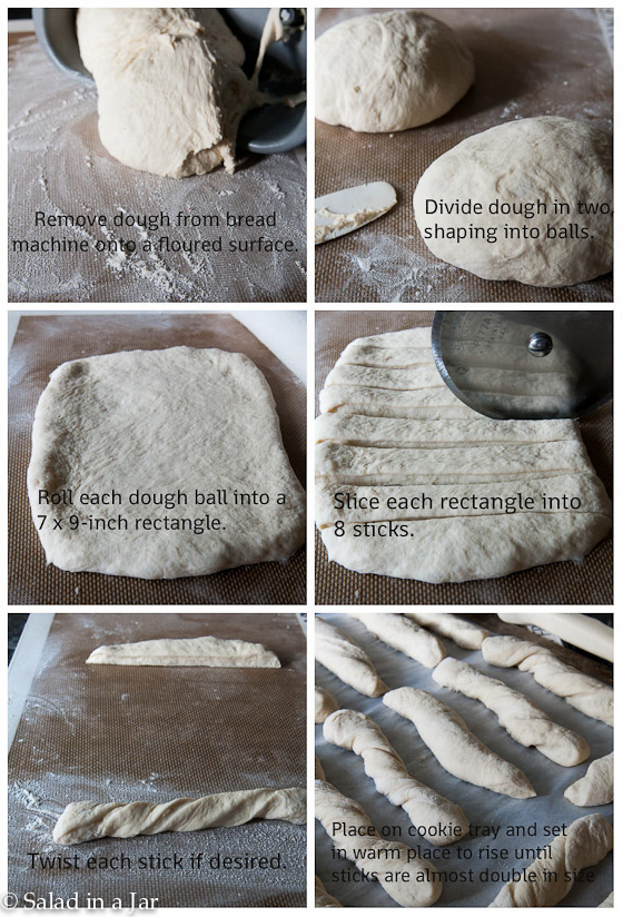 Soft Garlic Sticks - How to roll out dough
