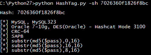HashTag – Password Hash Type Identification (Identify Hashes