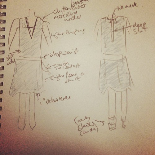 For the lulz, this is my original sketch of the dress.