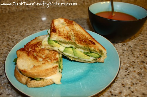 Pesto, spinach and avocado grilled cheese recipe