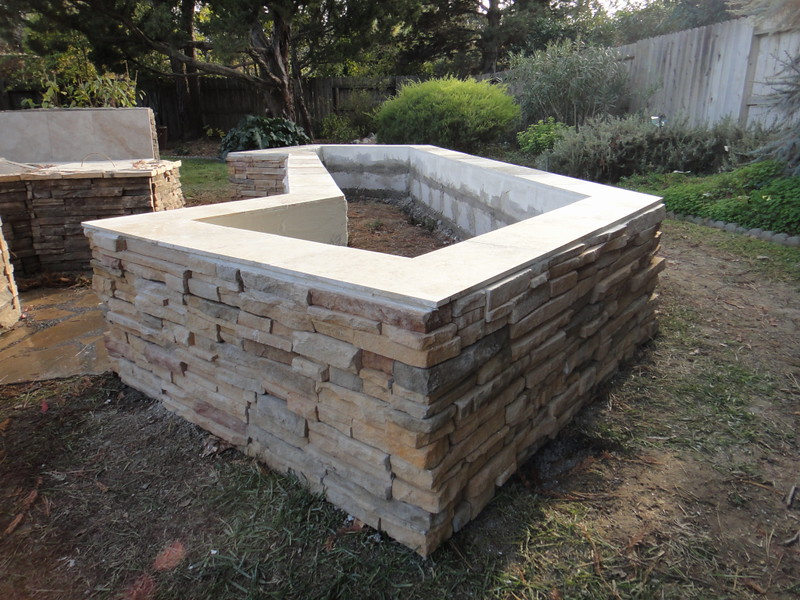 Cultured Stone Planter Box In Davis