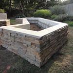 Cultured Stone Planter Box In Davis