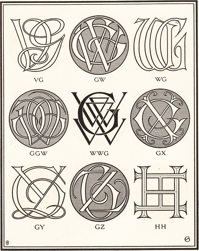 Monograms & Ciphers by AA Turbayne 1912 g
