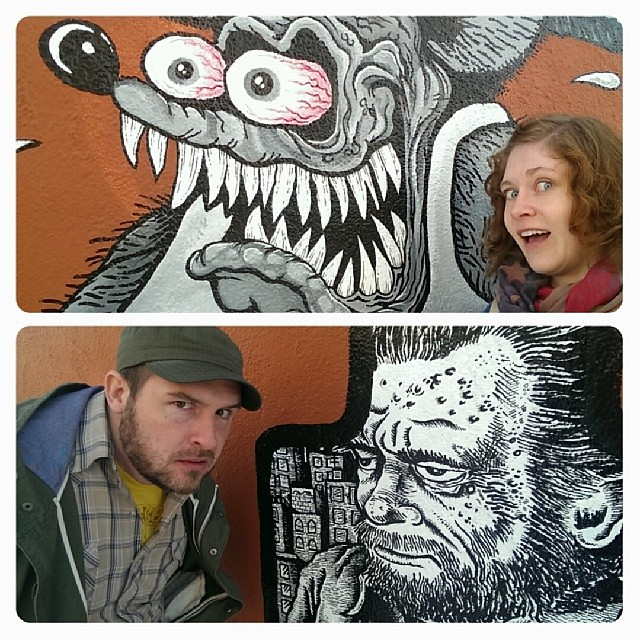 #Ratfink and #RCrumb, just two fascinating folks we found in #Denver. #roadtrip