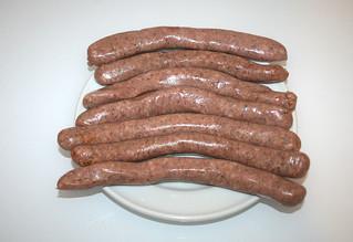 02 - Zutat rohe Bratwürste / Ingredient raw raw bratwursts