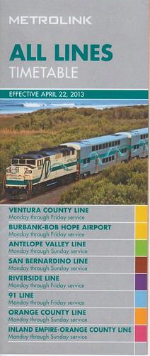 Metrolink 2013 Cover