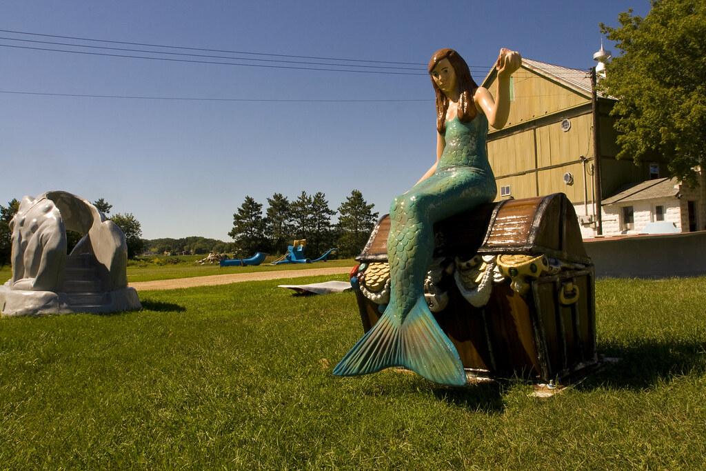 Fiberglass mermaid at F.A.S.T. - Fiberglass Animals, Shapes & Trademarks in Sparta, WIsconsin