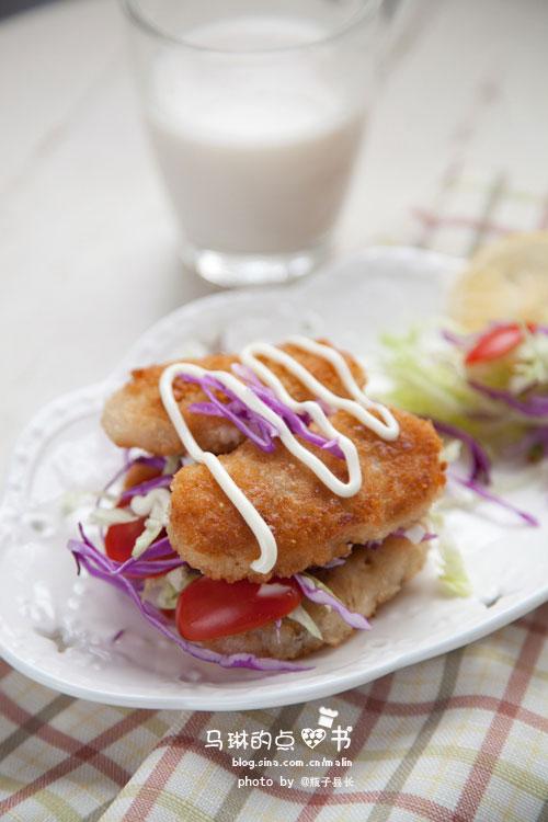 鳕鱼排沙拉