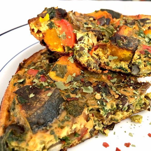 Kabocha and Black Bean Fritatta
