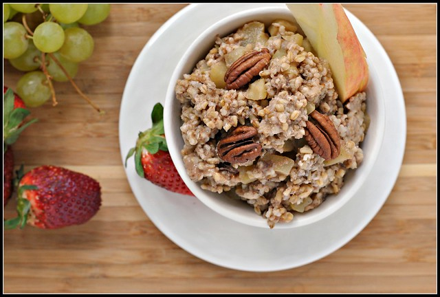 Baked Steel Cut Oatmeal with Apples and Cinnamon 2