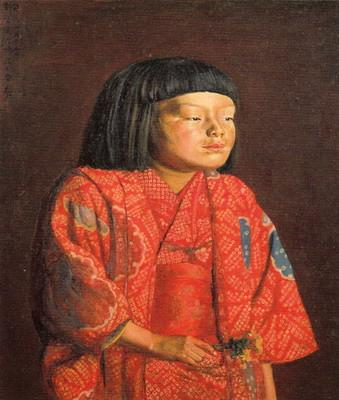 童女図(麗子立像)