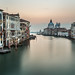 Grand Canal and Santa Maria della Salute Church from Accademia Bridge Venice, Italy