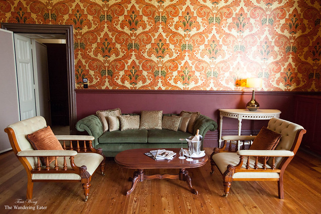 The living area of Sir George Gilbert Scott Suite