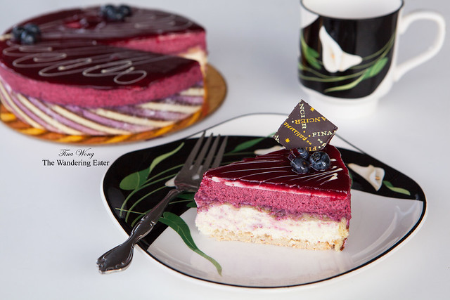 Cassis & White Chocolate Mousse Cake
