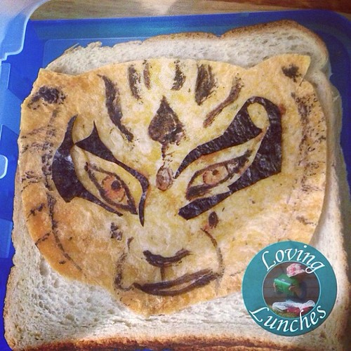 Loving my attempt at #Tigress from #kungfupanda for Miss M's lunch tomorrow… #bento #dreamworks #frd14