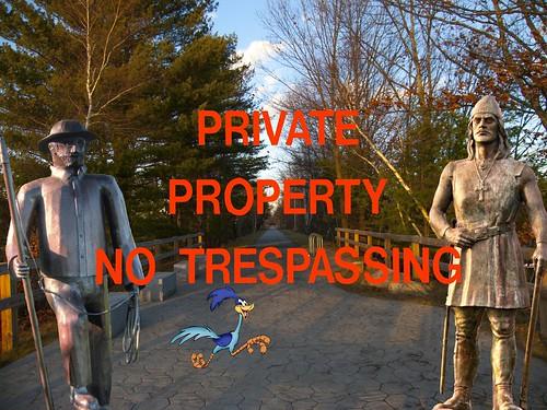 Private Property No Tresspassing