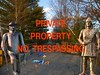 Private Property No Tresspassing