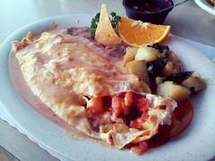 Omelette de camarones
