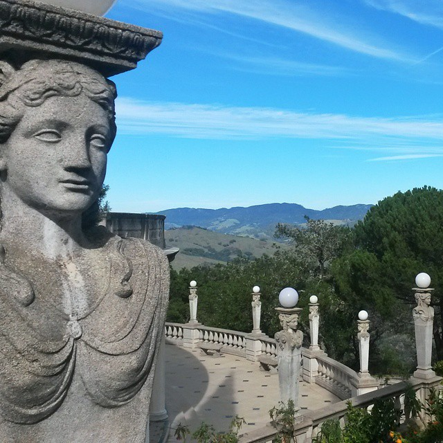 statue, Hearst Castle, highway 1, California