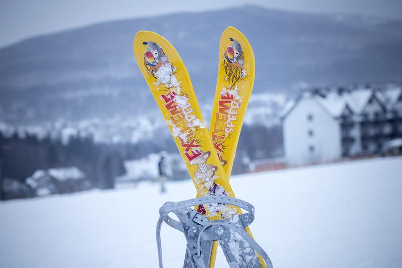 Baby ski racer in Świeradów Zdrój