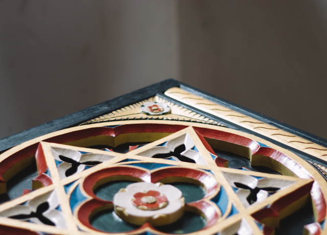 decorative plinth in church