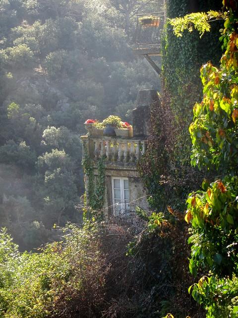 Montolieu Balcony on a Sunny Day