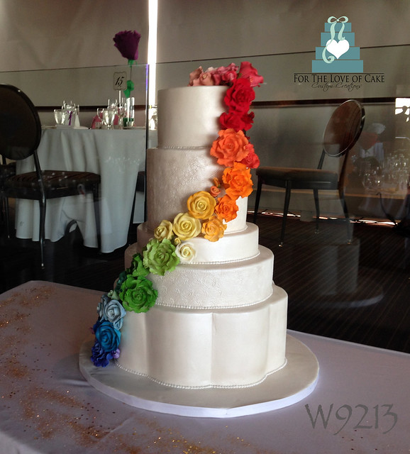 rainbow flower wedding cake flickriver photos from www fortheloveofcake ca 18958