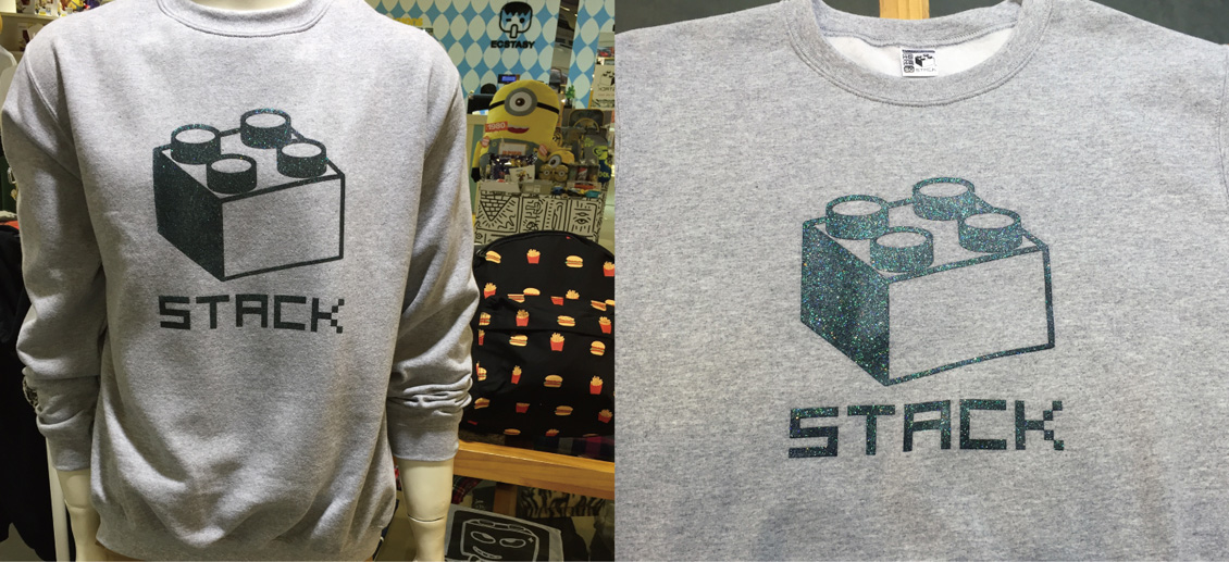 stack-經典積木-刷毛大學t-麻花灰