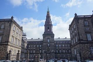 Image of Christiansborg Palace near Copenhagen. copenhagen denmark